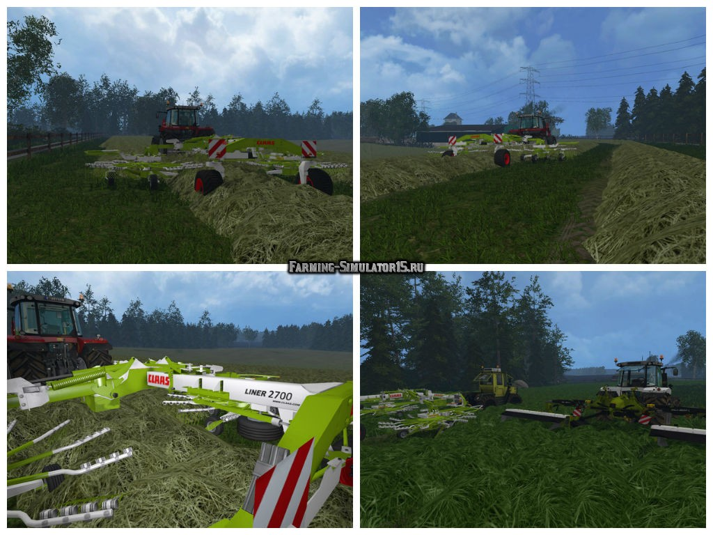 Мод валковая жатка Claas Liner 2700 v 1.0 Farming Simulator 2015