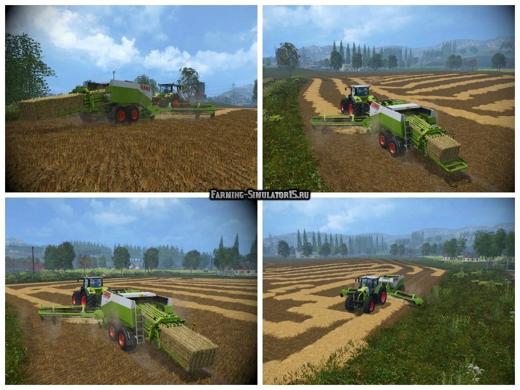 Мод тюкопресс Claas Quadrant 2200 & Nadal R90 v 1.0 Farming Simulator 15