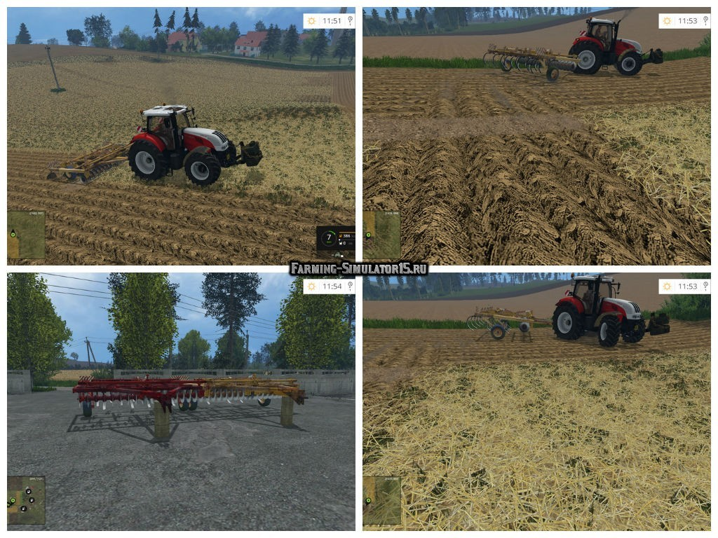 Мод культиваторы Conser Till v 1.1 Farming Simulator 15