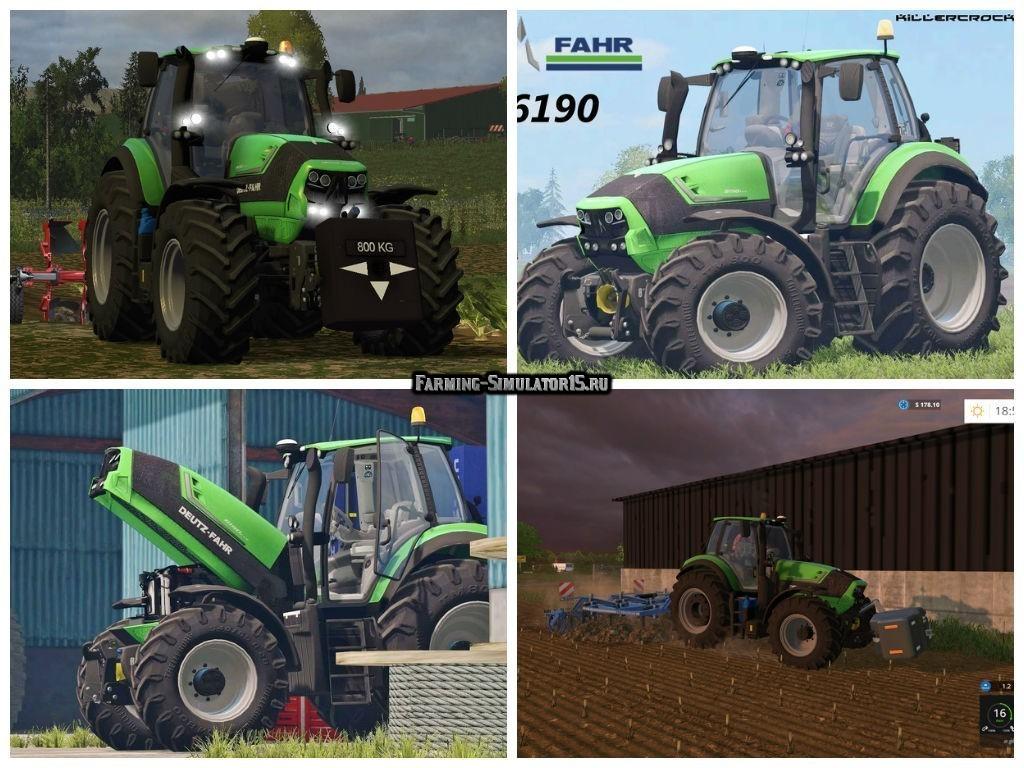 Мод трактор Deutz Fahr 6190 TTV v 1.1 Farming Simulator 2015