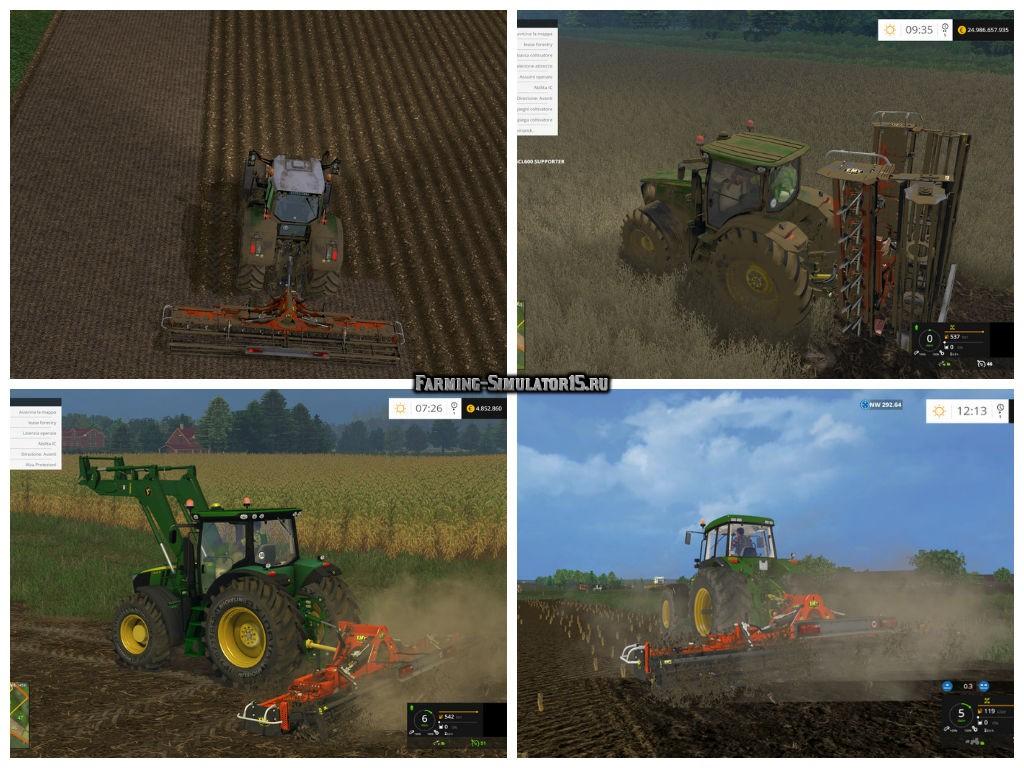 Мод культиватор EMY ELENFER SCP600 v 2.1 Farming Simulator 15