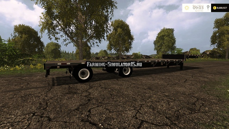 Мод прицеп FATBED TRAILER v 1.0 Farming Simualtor 2015