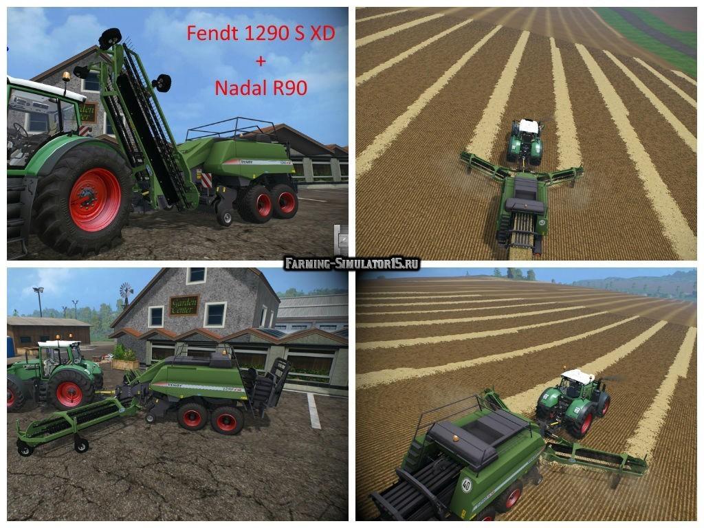 Мод тюкопресс Fendt 1290 S XD & Nadal R90 v 1.0 Farming Simulator 15