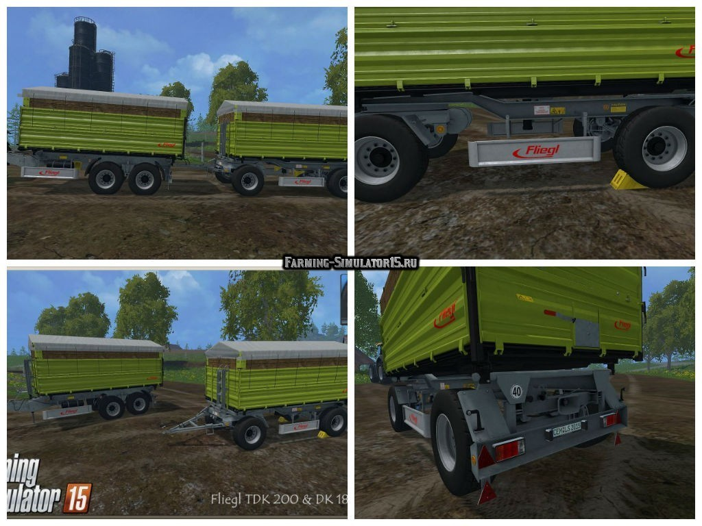 Мод ПАК прицепы Fliegl Trailer Pack v 2.0 Farming Simulator 2015