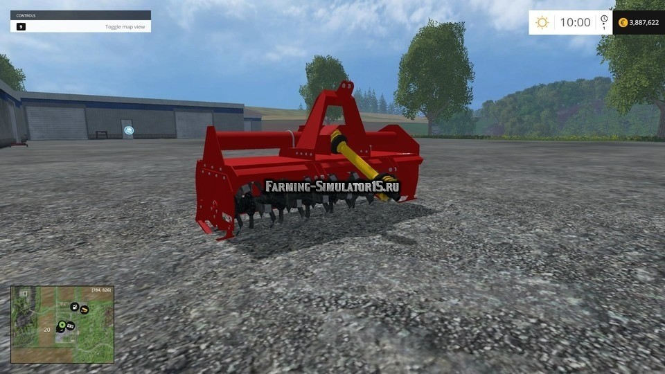 Мод культиватор Fresa Sicma ST v 1.0 Farming Simulator 2015