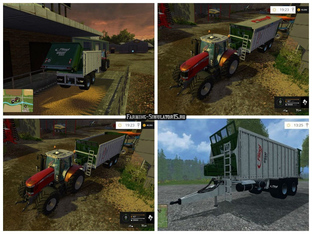 Мод прицеп Fliegl ASW v 1.0 Beta Farming Simulator 15