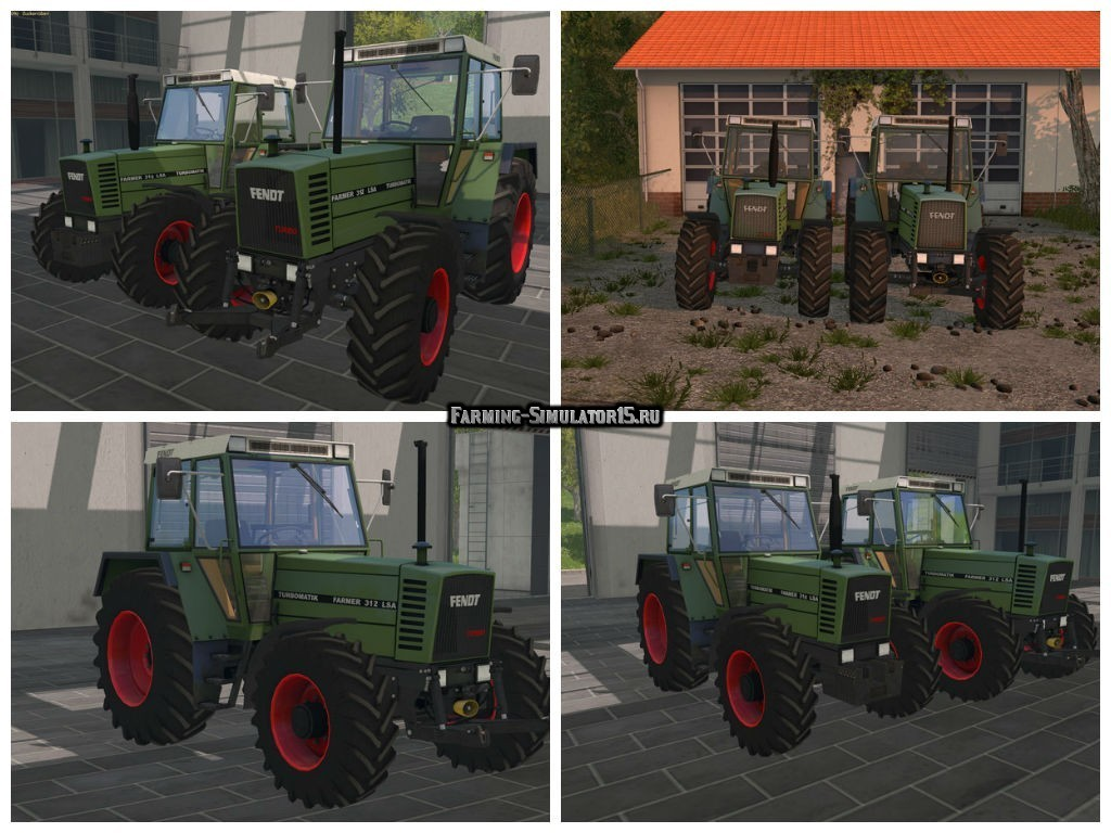 Мод трактор Fendt Farmer 310 & 312 LSA v 3.1 Farming Simulator 2015