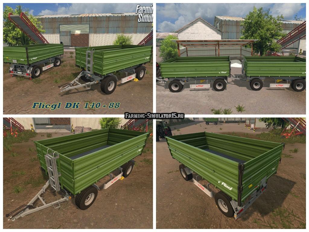 Мод прицеп Fliegl DK 140-88 v 1.0 Farming Simulator 15