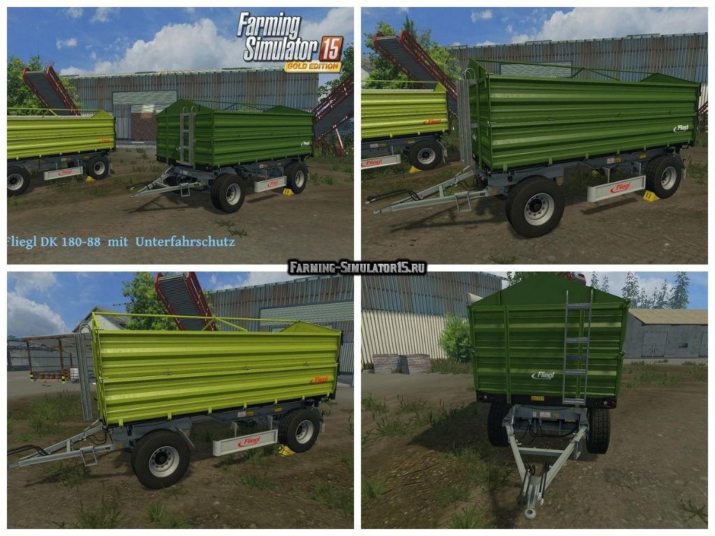 Мод прицепы Fliegl DK 180-88 Set v 1.0 Farming Simulator 2015