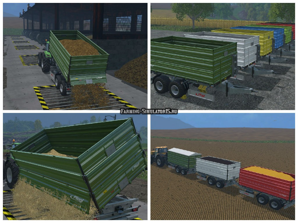 Мод прицеп Fliegl TDK 200 Dyeable v 1.0 Farming Simulator 15
