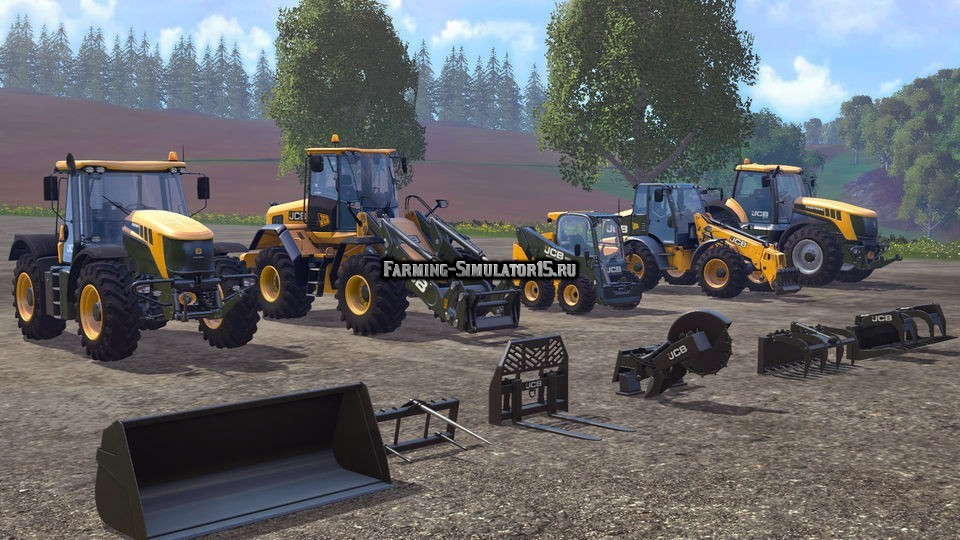 Мод JCB Pack DLC Farming Simulator 15