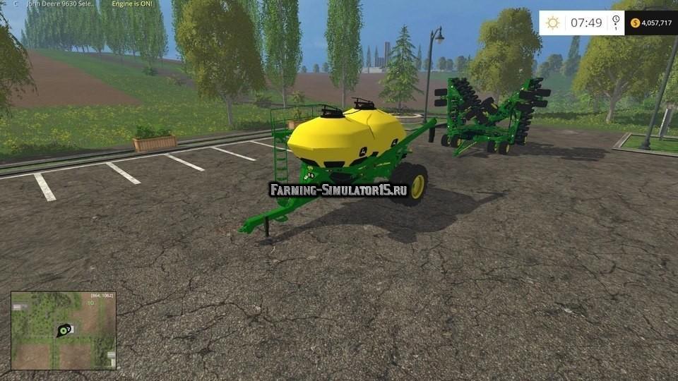 Мод сеялки John Deere 1890 Wingflex Seeder Pack v 2.0 Farming Simulator 2015