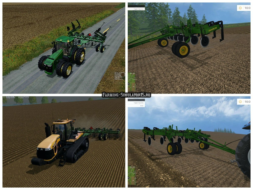 Мод культиватор John Deere 2100 Ripper v 1.0 Farming Simulator 2015