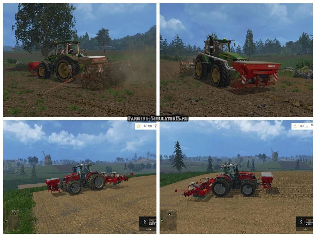 Мод сеялка KVERNELAND NG S 601 F35 V1.0 Farming Simulator 2015
