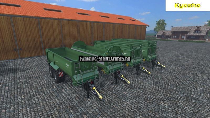 Мод прицепы Krampe Bandit 750 Green v 1.0 Farming Simulator 2015