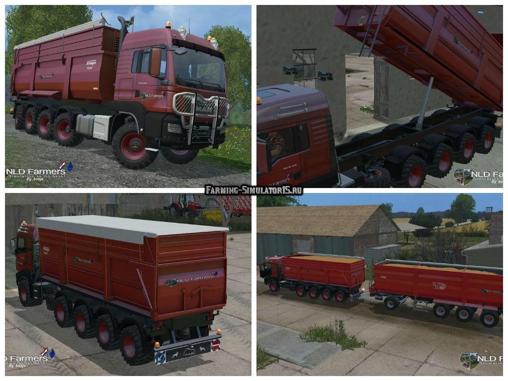 Мод грузовик MAN TGS 10X8 KrampeBB900S v 1.1 Farming Simulator 2015