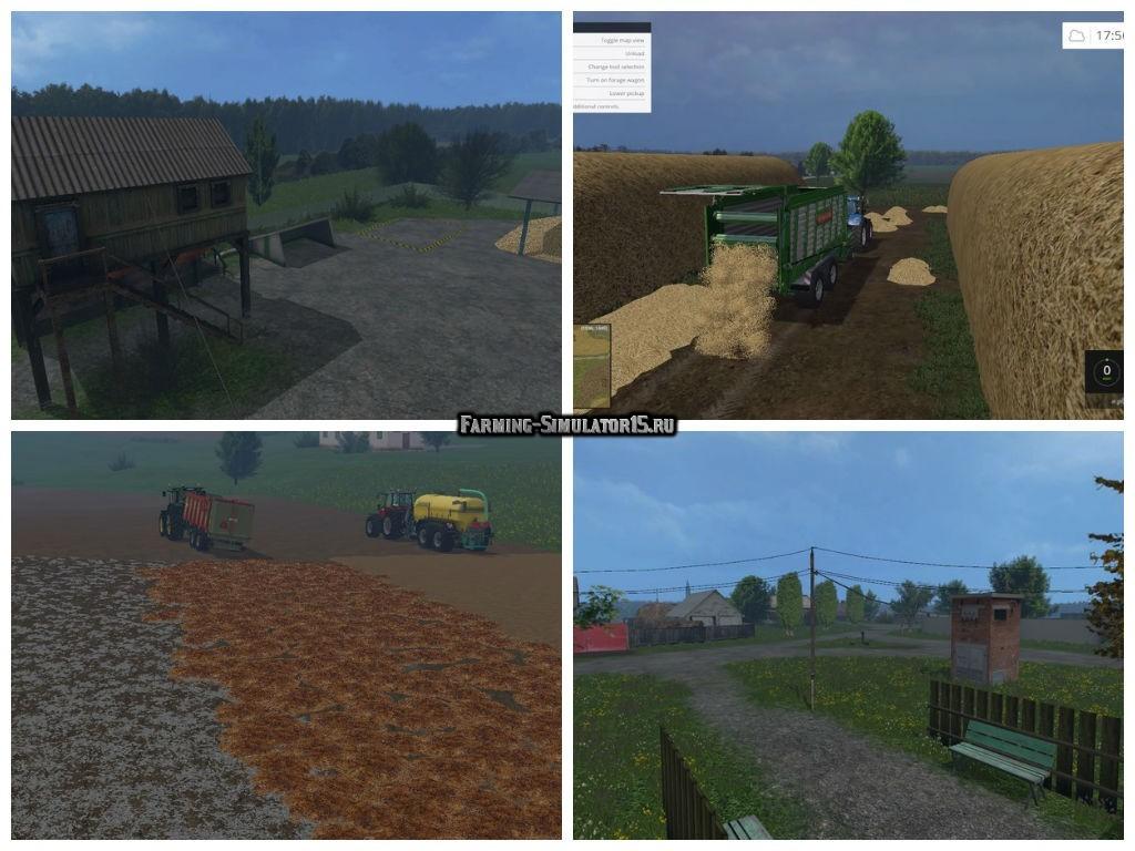 Мод карта Львовская область Farming Simulator 15