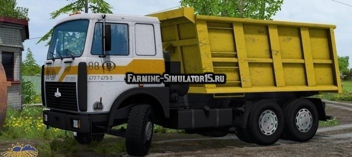 Мод грузовик МАЗ-5516 Фарминг Симулятор 2015