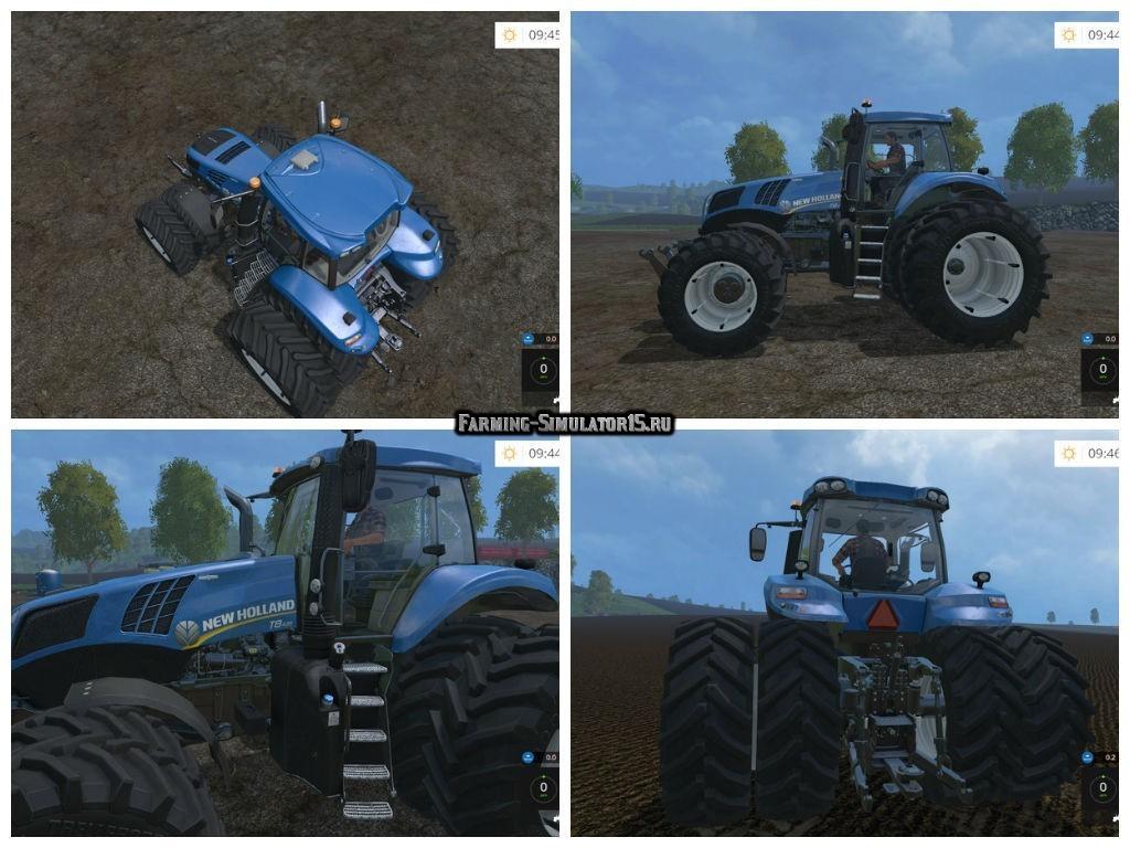 Мод трактор New Holland T8.435 DW v 4.0.3 Farming Simulator 15