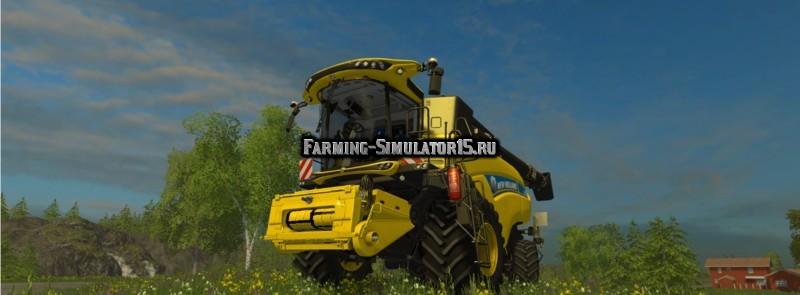 Мод комбайн New Holland Wheel CR10.90 v 2.0 Farming Simulator 15