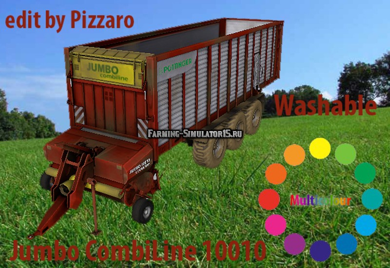 Мод прицеп Pottinger JUMBO 10010 CombiLine v 2.0 Farming Simulator 15