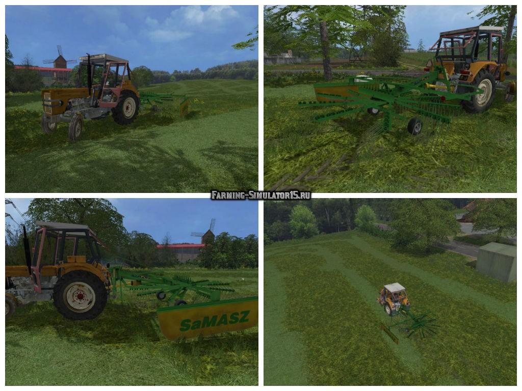 Мод валковые жатки SaMasz Z-410 v 1.0 Farming Simulator 2015