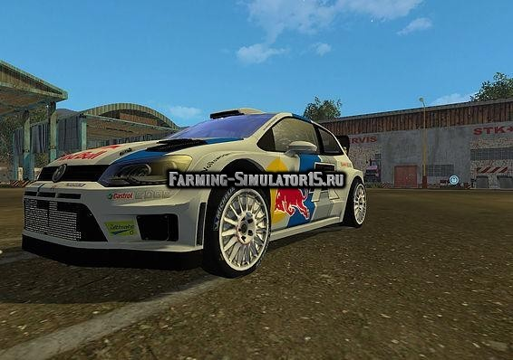 Мод авто Volkswagen Polo WRC Red Bull v1.0 Farming Simulator 2015