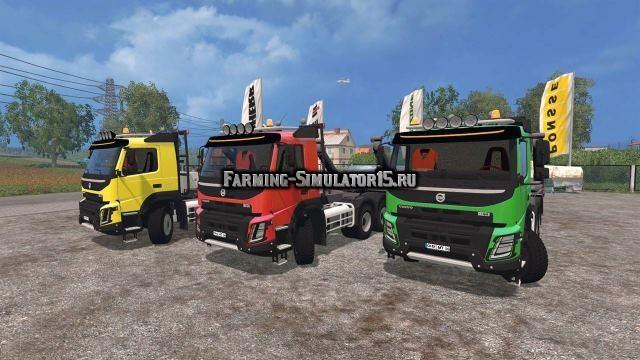 Мод тягач Volvo FMX Absetz Kipper v 1.2 Farming Simulator 2015