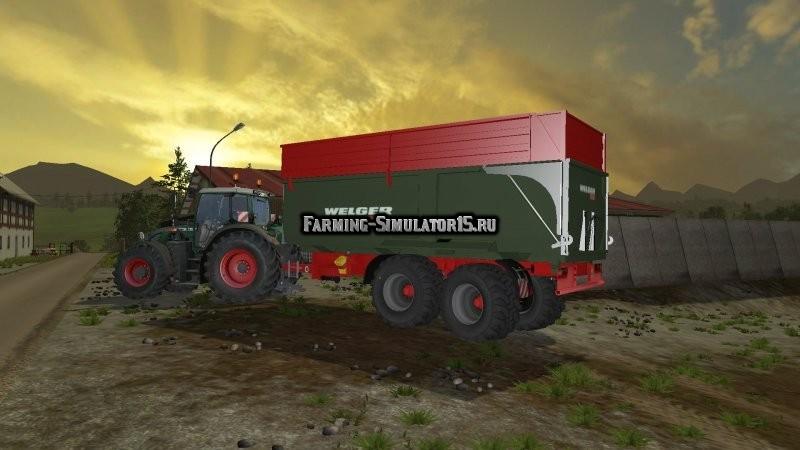 Мод прицеп Welger MUK 300 v 1.0 Farming Simulator 15