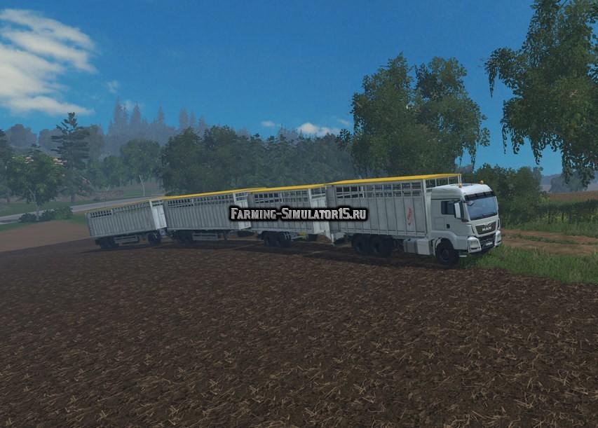 Мод ПАК Fliegl Animal Transport Pack v 2.1 Farming Simulator 15