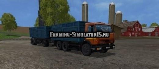 Мод грузовик КамАЗ 53212 и НЕФАЗ 8560B Фарминг Симулятор 2015