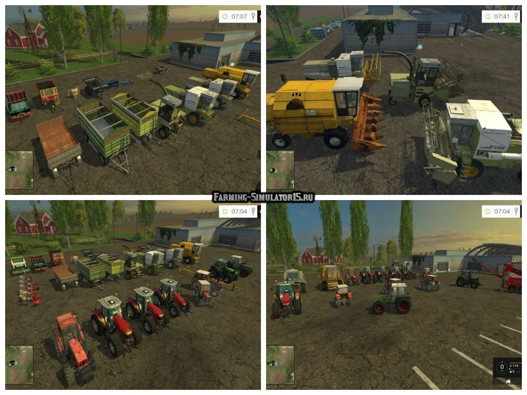 Мод Польский Modpack весь сезон v 3 Farming Simulator 2015