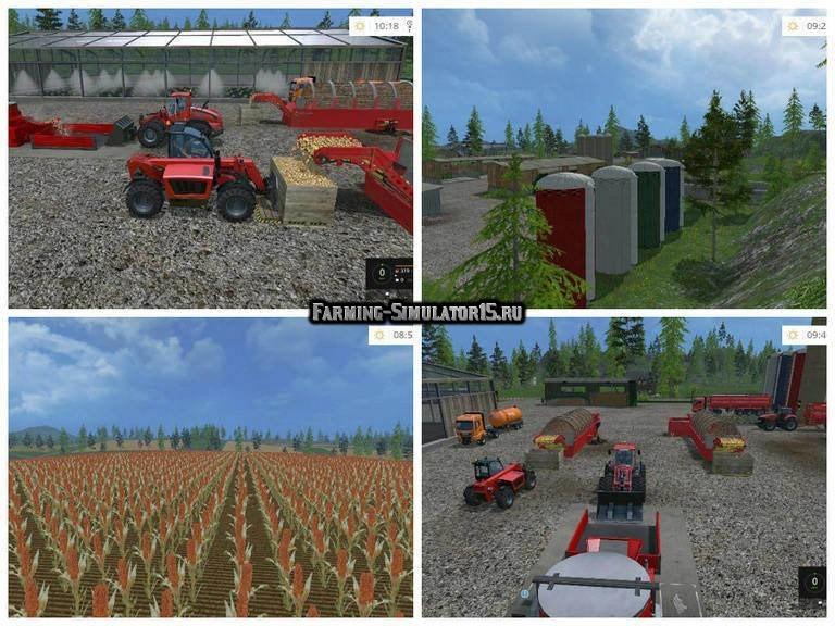 Мод карта Black Rock Valley v4.0 Farming Simulator 15