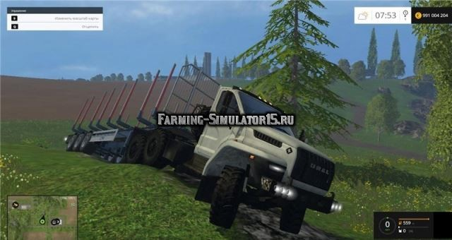 Мод грузовик Урал URAL NEXT Фермер Симулятор 2015