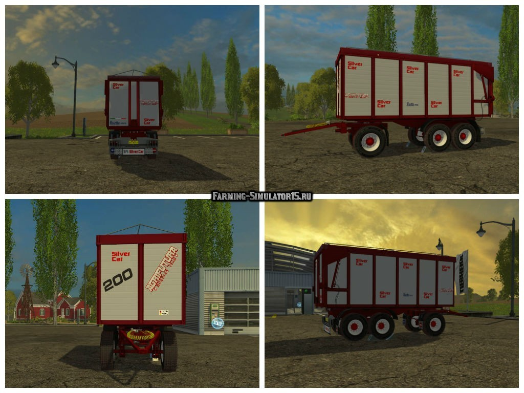 Мод прицеп Silver Car SRC 313 v 1.0 Red livery Farming Simulator 15
