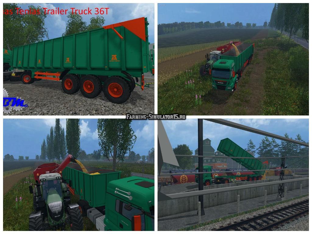 Мод прицеп Aguas Tenias Trailer Truck v 1.0 Farming Simulator 2015