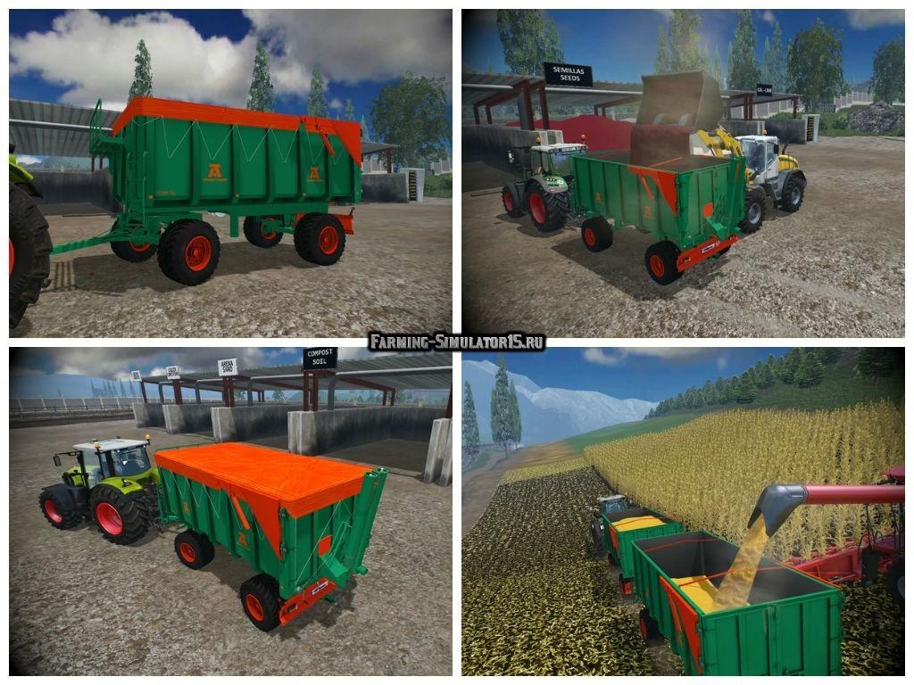 Мод прицеп Aguas Tenias Galera 14T v 1.0 Farming Simulator 2015