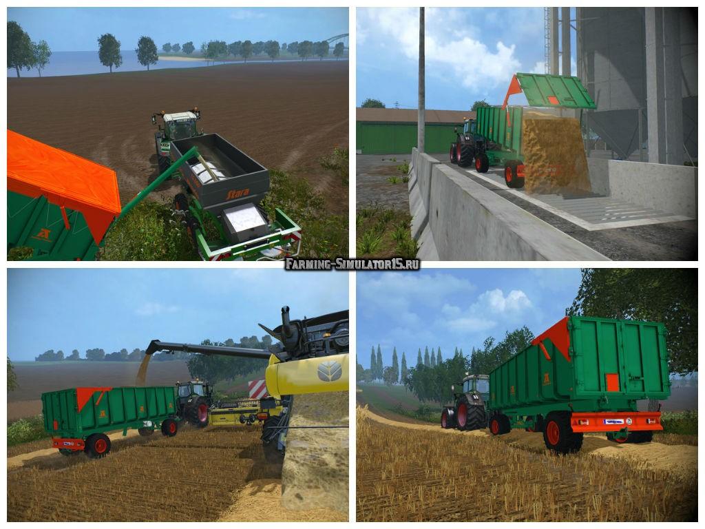 Мод прицеп Aguas Tenias Galera 20T v 1.0 Farming Simulator 2015