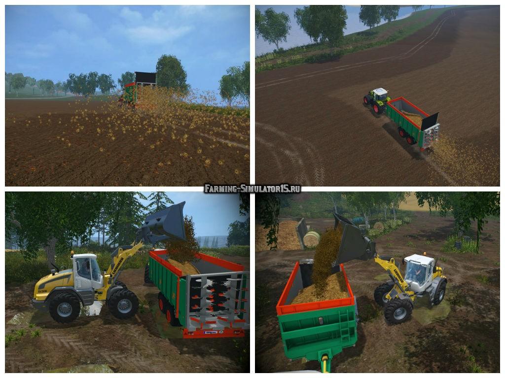Мод прицеп Aguas Tenias Manure Spreader Tandem v 1.0 Farming Simulator 2015