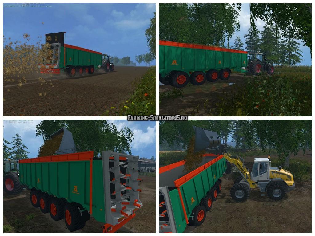 Мод прицеп Aguas Tenias Manure Spreader Tetradem v 1.0 Farming Simulator 2015