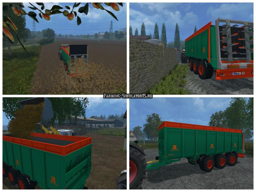 Мод прицеп Aguas Tenias Manure Spreader Tridem v 1.0 Farming Simulator 15
