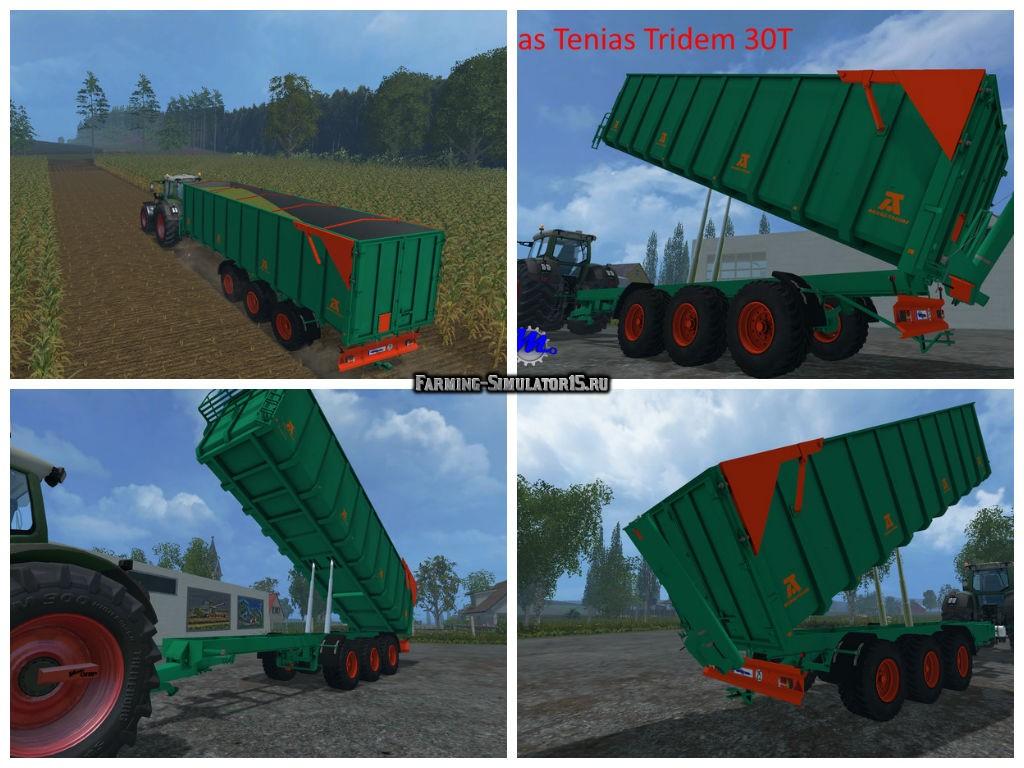 Мод прицеп Aguas Tenias Tridem v 1.0 Farming Simulator 15