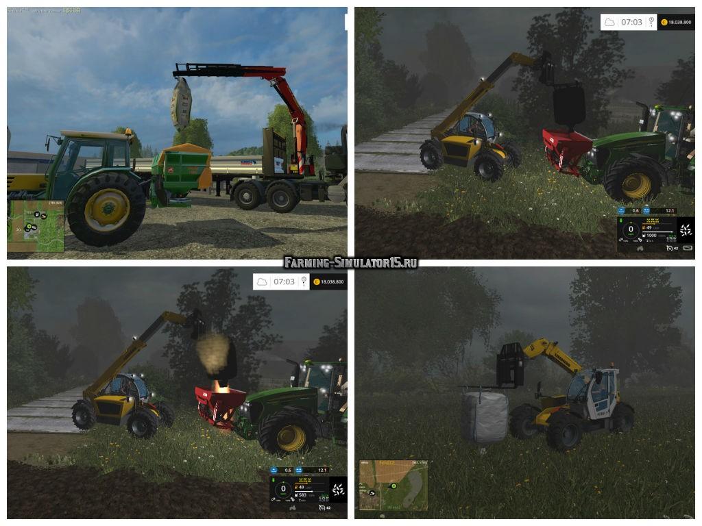 Мод мешки Big Bags v 4.1 Fix Farming Simulator 15