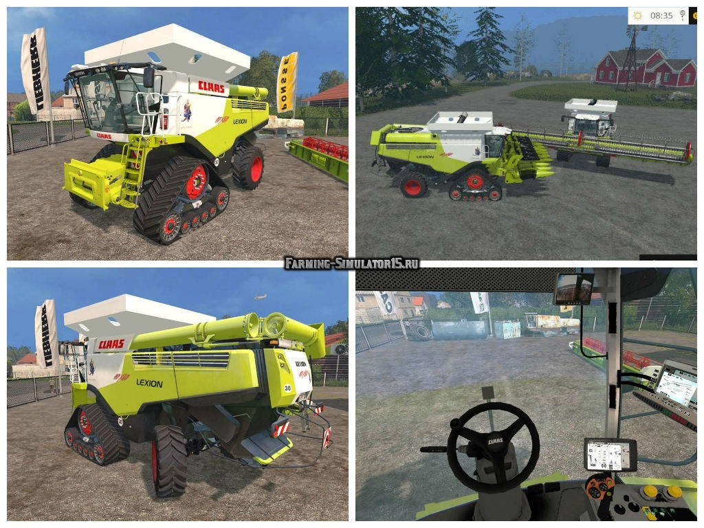 Мод комбайн Claas Lexion 10X80 Australian Prototyp v 1.0 Farming Simulator 2015