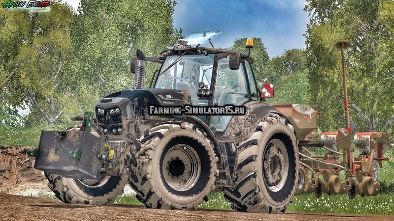 Мод трактор Deutz Fahr 7250 TTV Warrior v 4.0 Farming Simulator 2015