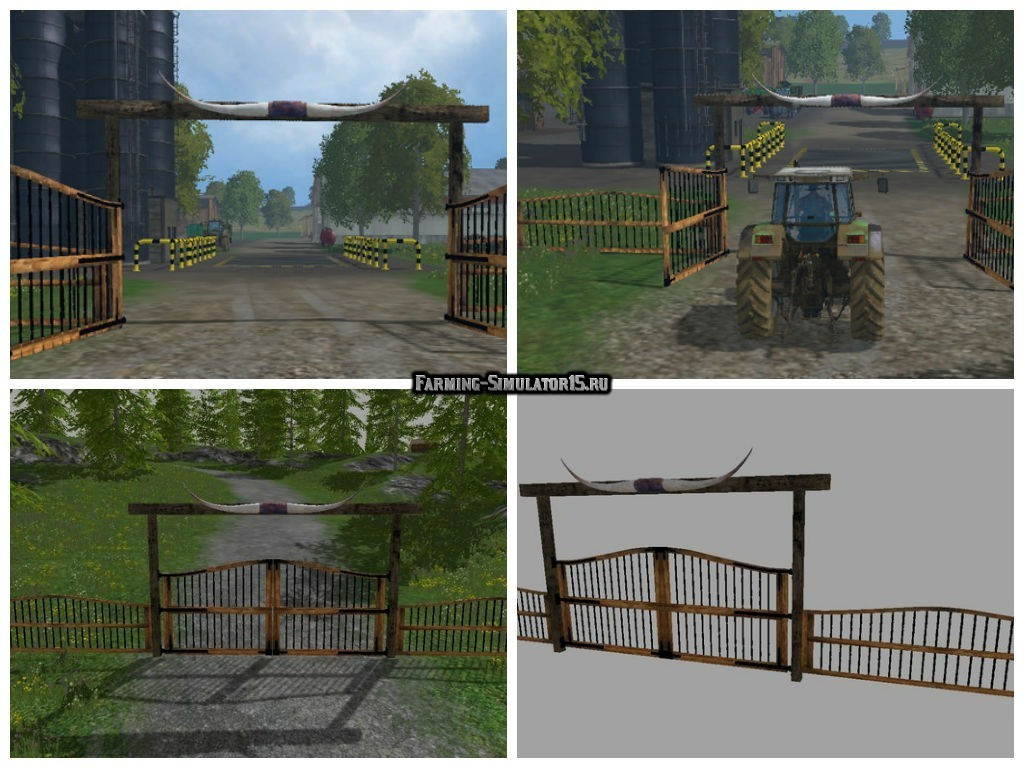 Мод ворота Farm gate v 2.0 Placeable Farming Simulator 2015