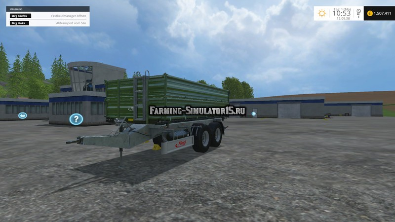 Мод прицеп Fliegl TDK 160 plus v 1.0 Farming Simulator 2015