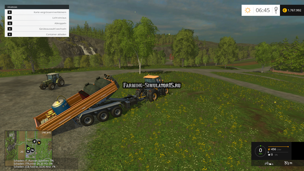 Мод прицеп IT Runner Service v 1.2 Farming Simulator 15