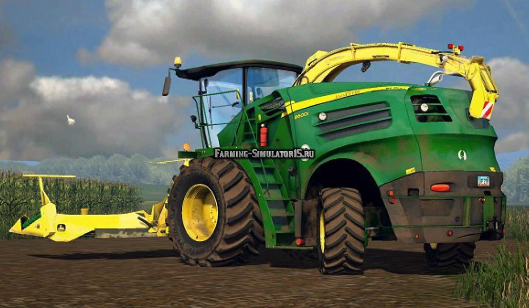 Мод комбайн John Deere 8600i v 0.22 Farming Simulator 2015