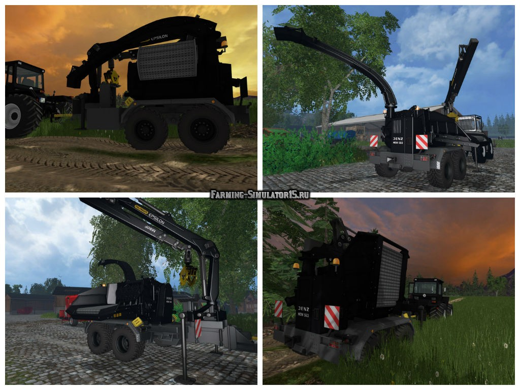Мод щепогрыз Jenz HEM 583 Black Edition v 1.0 Farming Simulator 2015